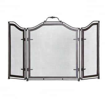 3 Panel Iron Fire Screen