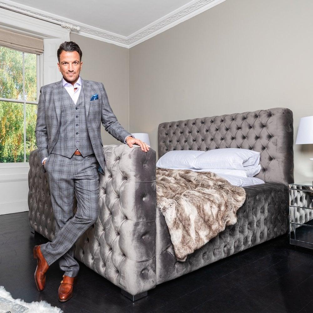 The Mayfair Bed - Crushed Velvet