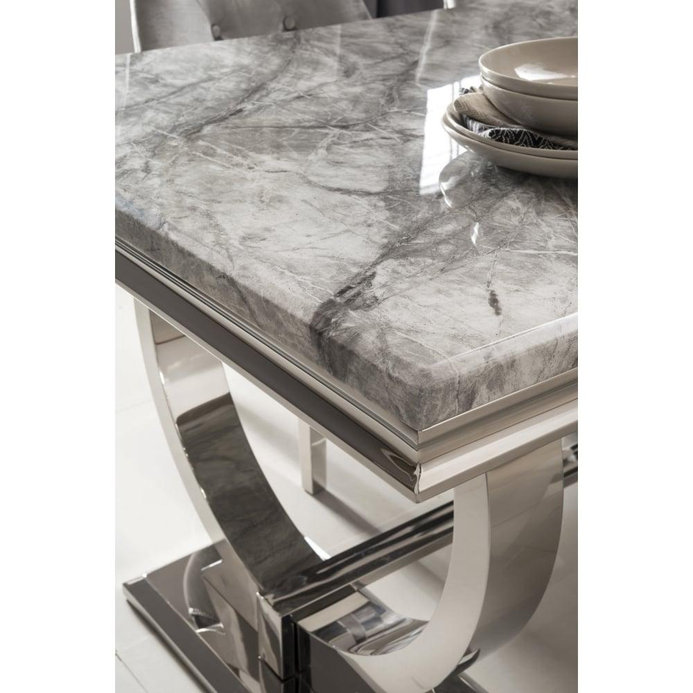Arianna Marble Dining Table Set In Grey Dining Room From Breeze Furniture Uk