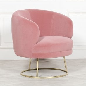 Art Deco Pink Dining/Bedroom Chair - Living Room from Breeze ...