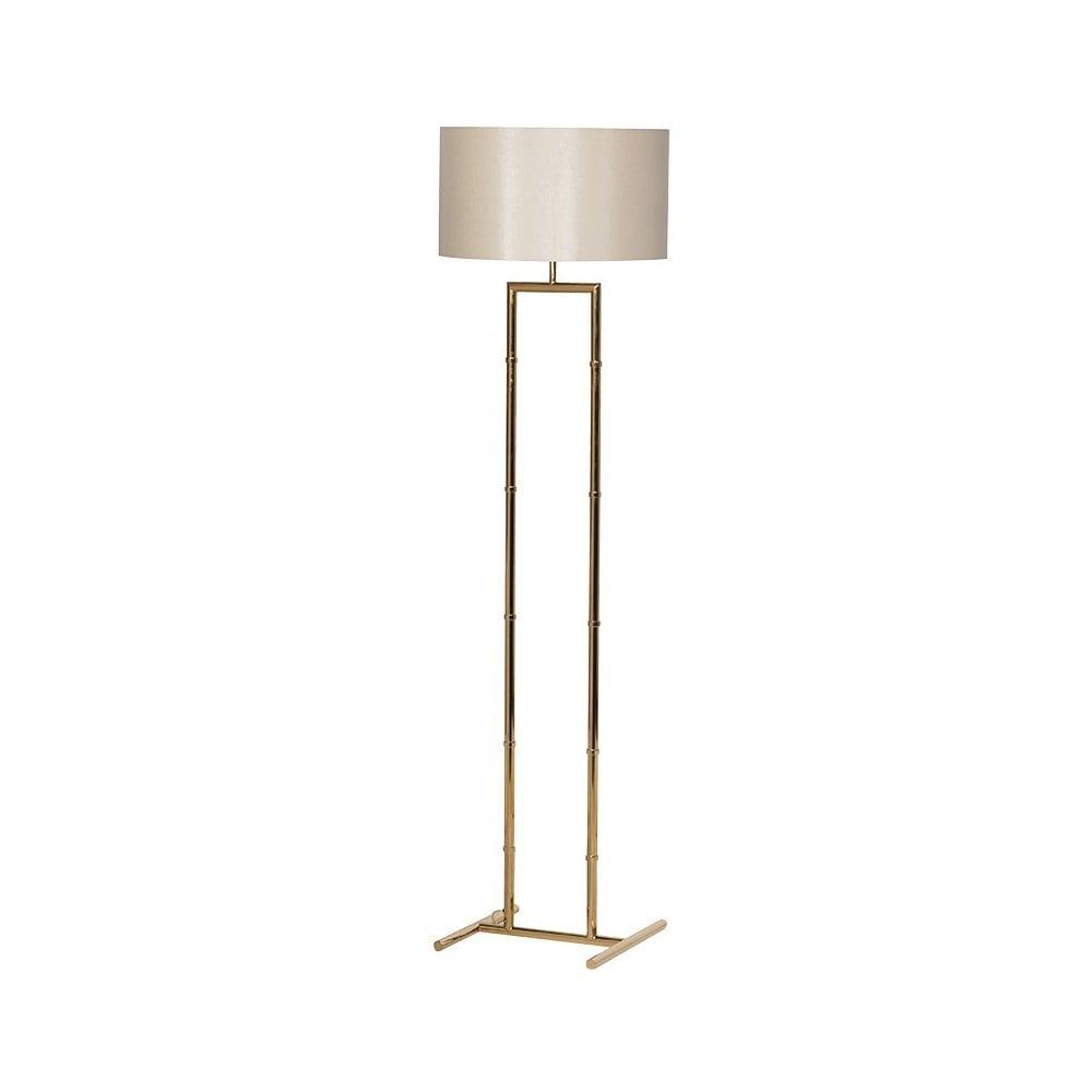 Gold Tubular Floor Lamp Lighting From