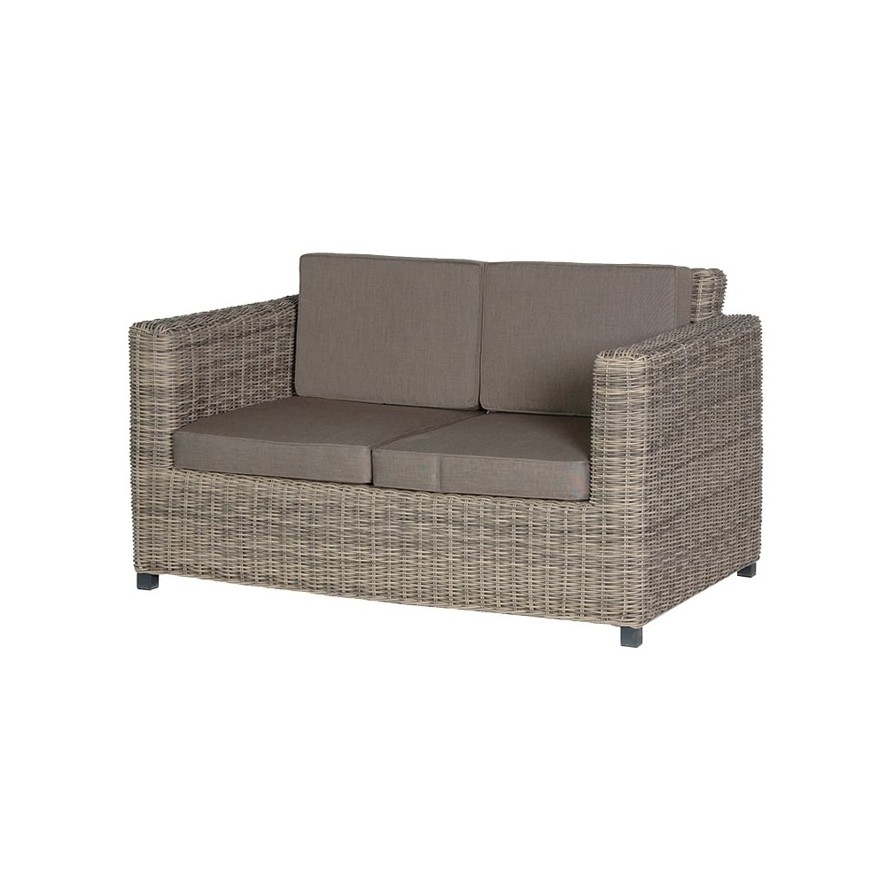 Outdoor Rattan 2 Seater Sofa