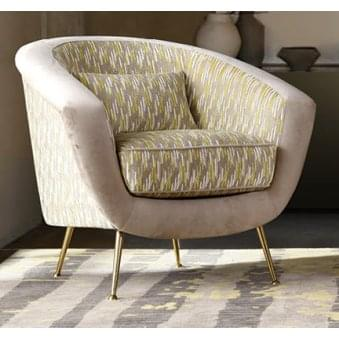 Bardot Cushioned Lux Fabric Chair