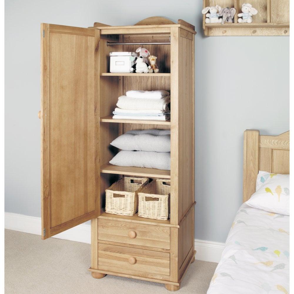 Groovy Amelie Oak Childrens Single Wardrobe 1 Door Home Interior And Landscaping Oversignezvosmurscom