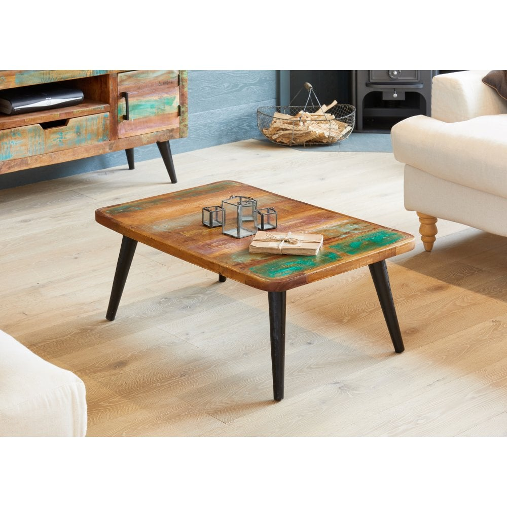 Coastal Chic Reclaimed Wood Coffee Table - Living Room ...