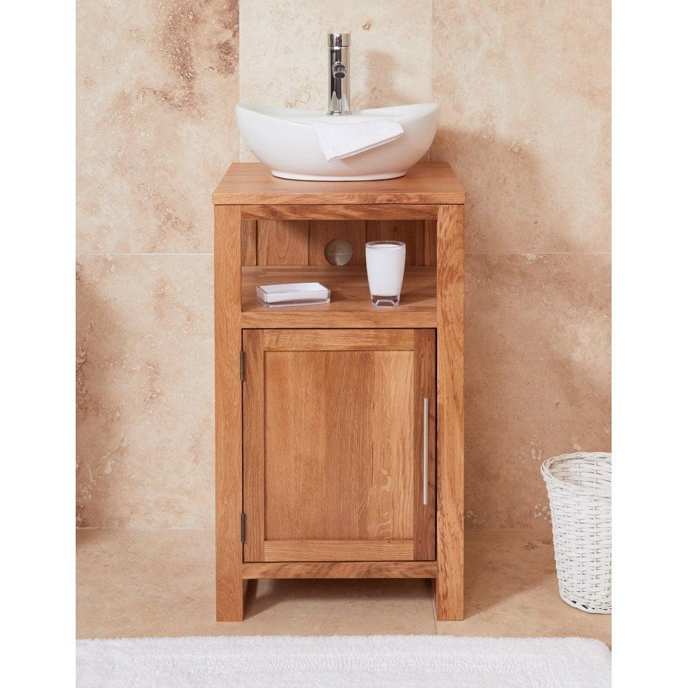 Image baumhaus mobel Chairs 120cm Mobel Bathroom Collection Solid Oak Single Door Sink Unit round Breeze Home Furnishings Baumhaus Mobel Bathroom Collection Solid Oak Single Door Sink Unit