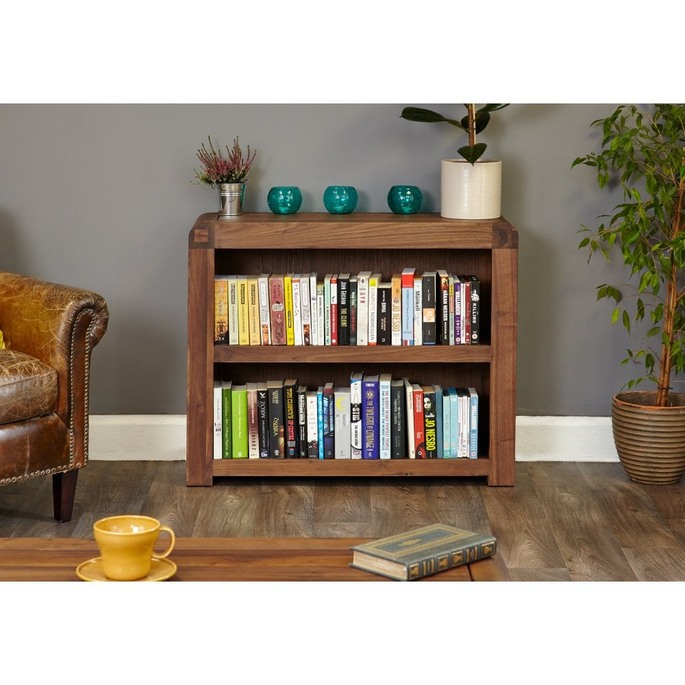 Shiro Walnut Low Bookcase - Dining Room from Breeze ...