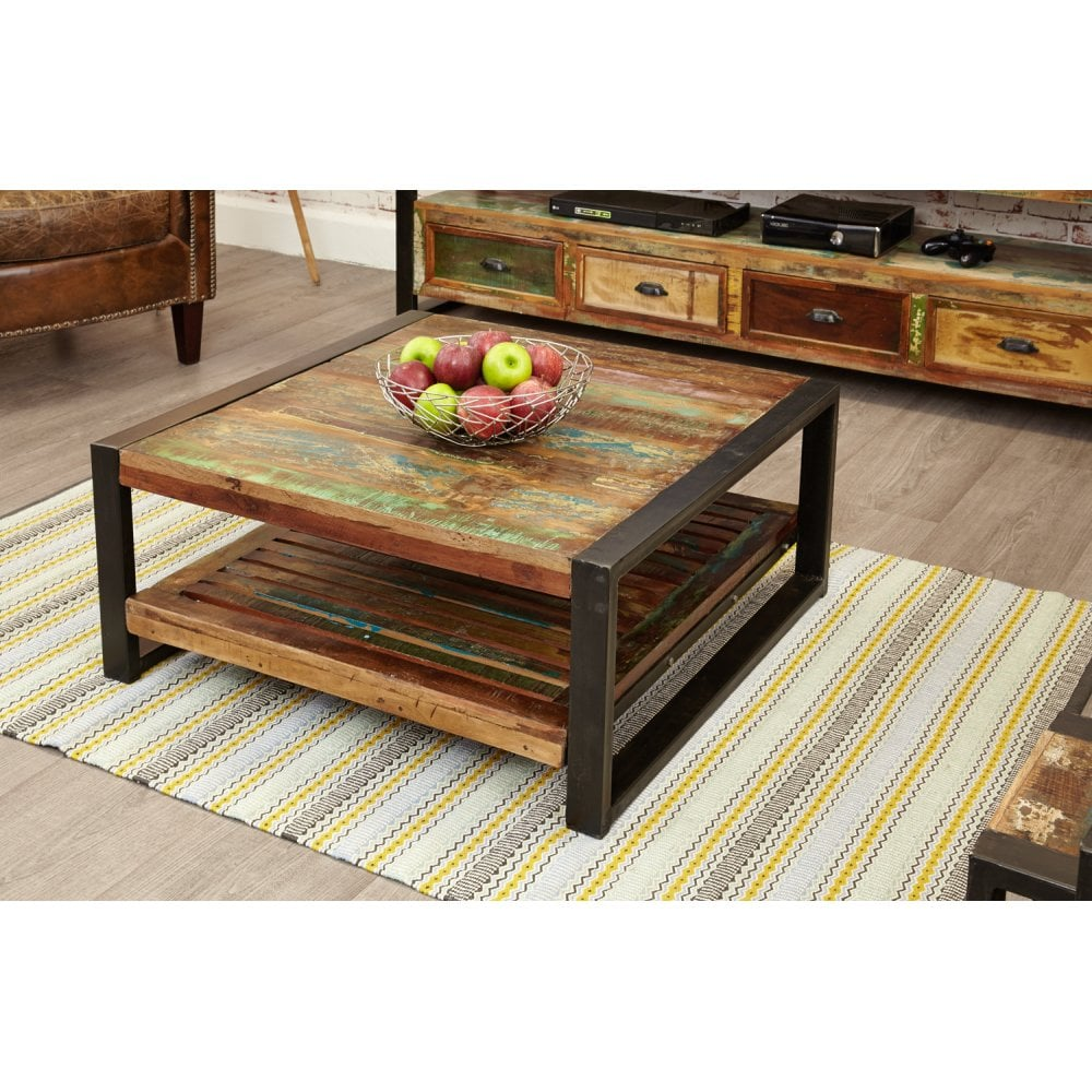 Baumhaus Urban Chic Reclaimed Wood Square Coffee Table