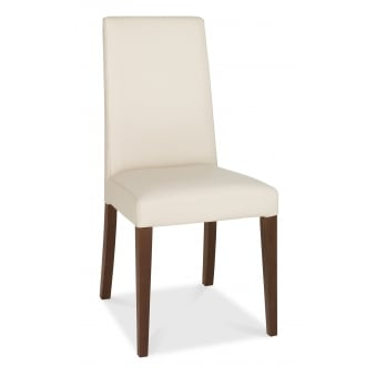 Akita Walnut Dining Chair - Ivory Taper Back (Pair)