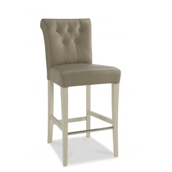 Hampstead Soft Grey Upholstered Bar Stool (Pair)
