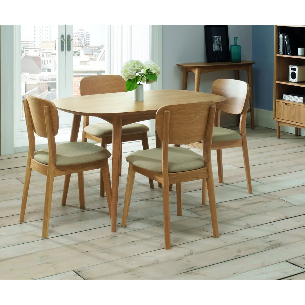 Bentley Designs Oslo Oak Dining Table 4 Seater Dining Room From