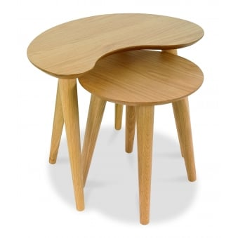 Oslo Oak Nest of Lamp Table