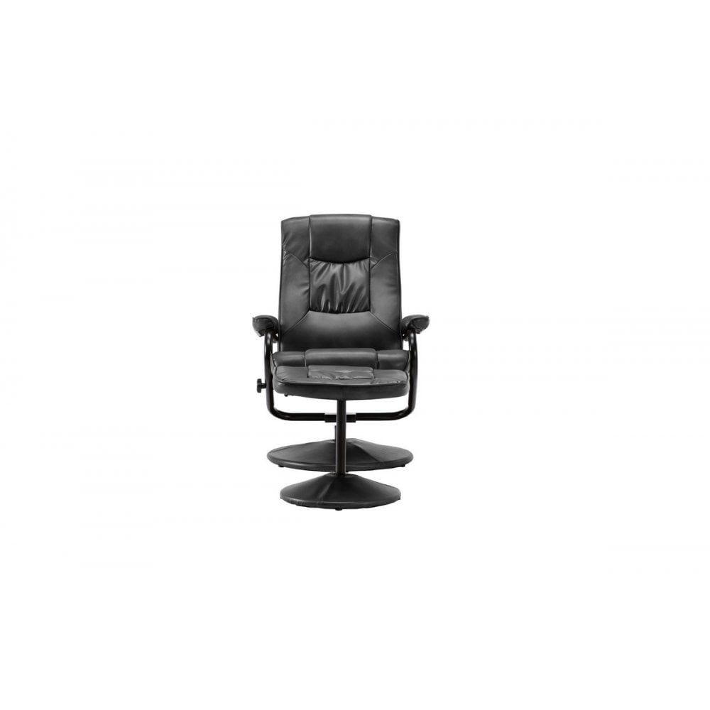 Black Memphis Swivel Chair and Footstool