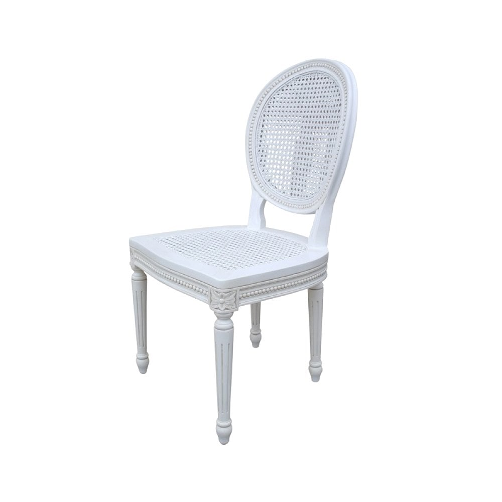 Cau White Rattan Dining Bedroom, White Rattan Dining Room Chairs