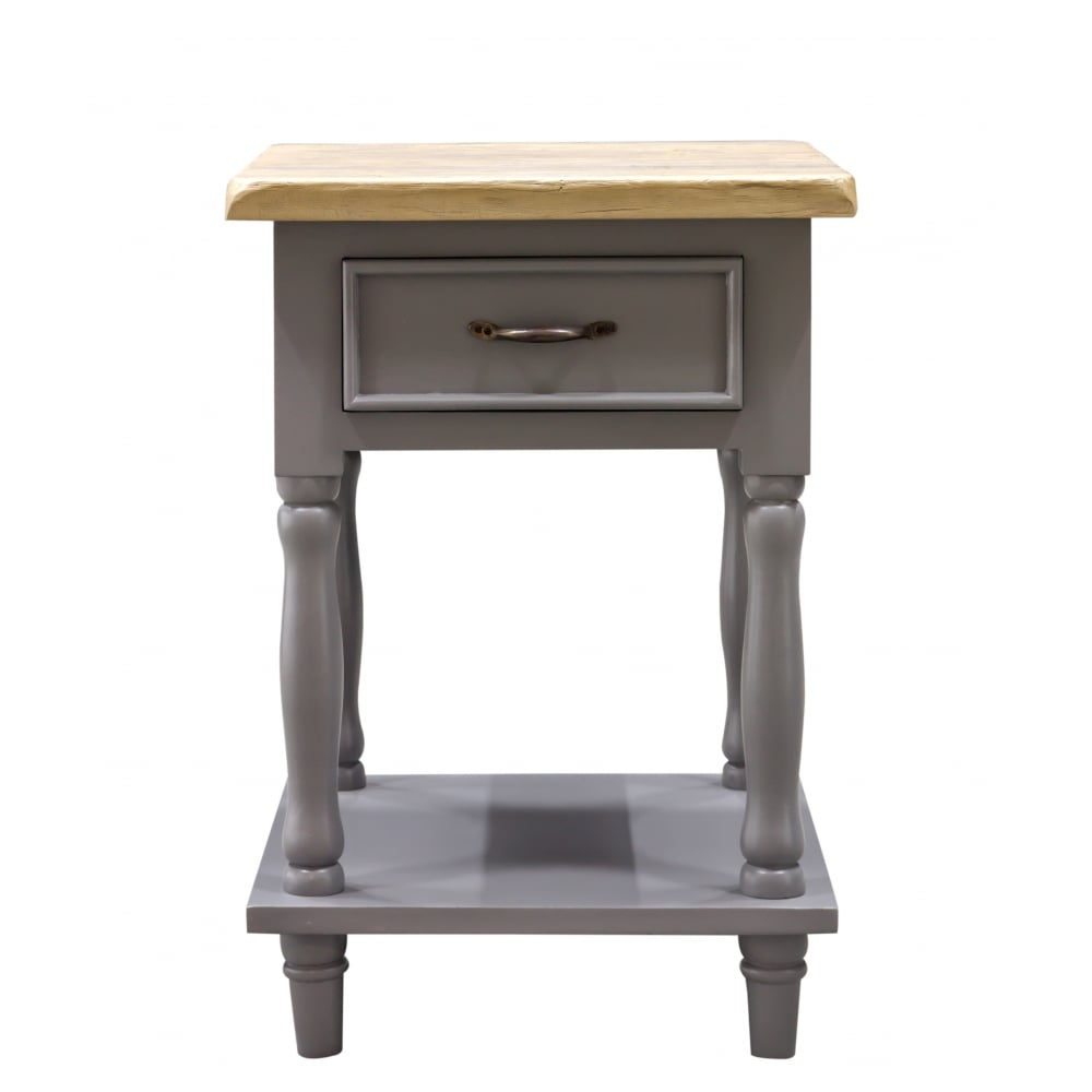 Chester Tall Side Table With 1 Drawer And 1 Shelf Living Room From