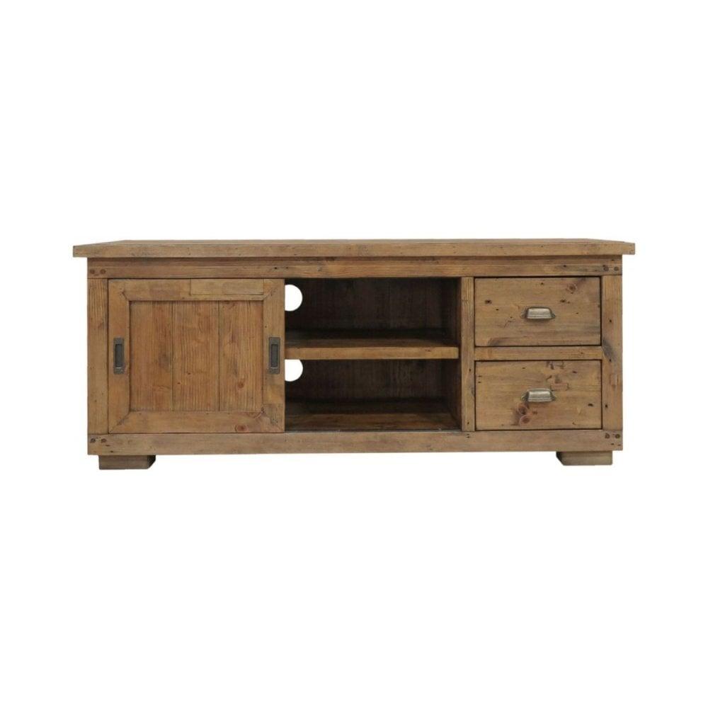 cheaper d33ef 659b5 Camrose Reclaimed Pine TV Cabinet - 1 Door 2 Drawer Small