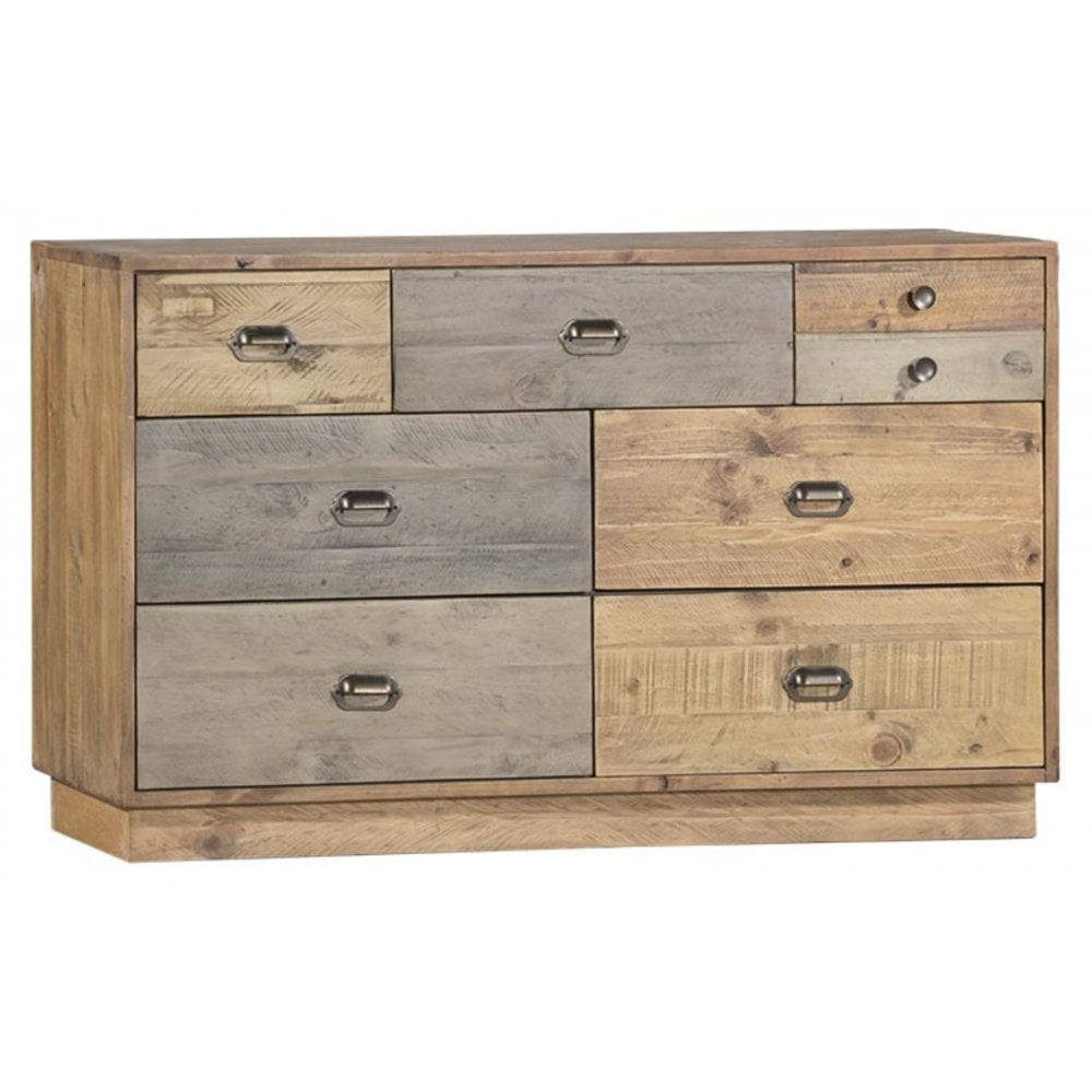 Loft Reclaimed Pine 7 Drawer Chest With