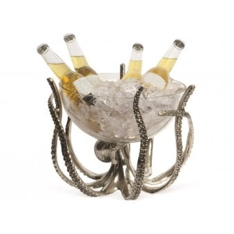 Octopus Stand And Glass Bowl