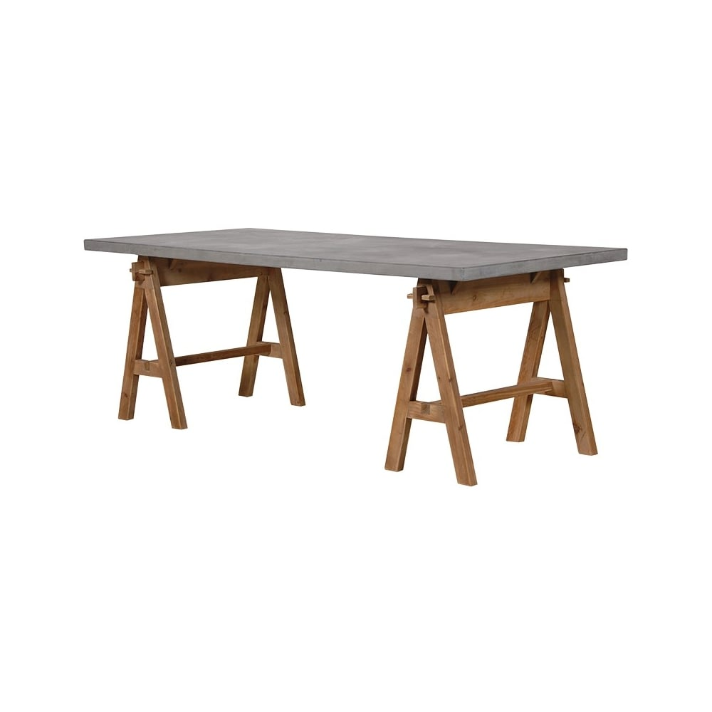 Grey Washed Trestle Dining Table Dining Room From Breeze Furniture Uk