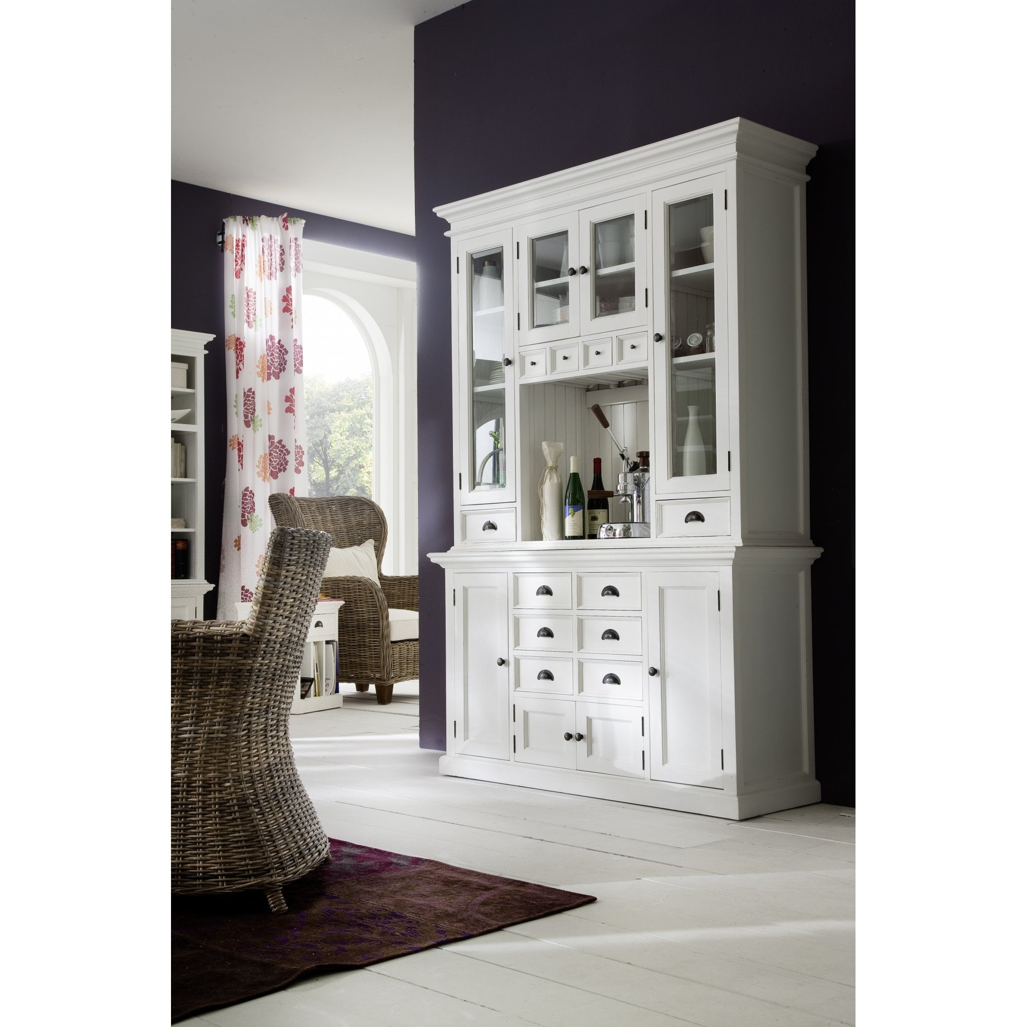 Image of: Halifax White Kitchen Hutch Unit Dining Room From Breeze Furniture Uk