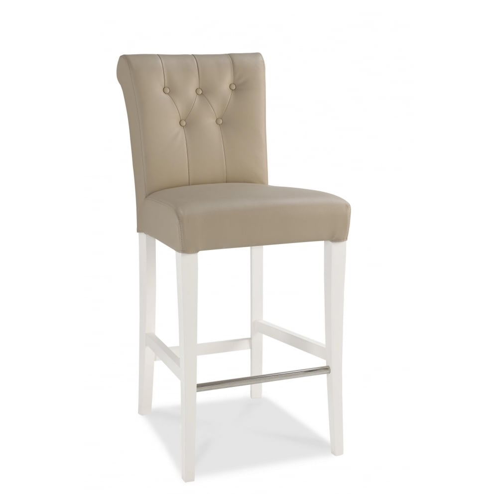 Hampstead Two Tone Upholstered Bar Stool (Pair)