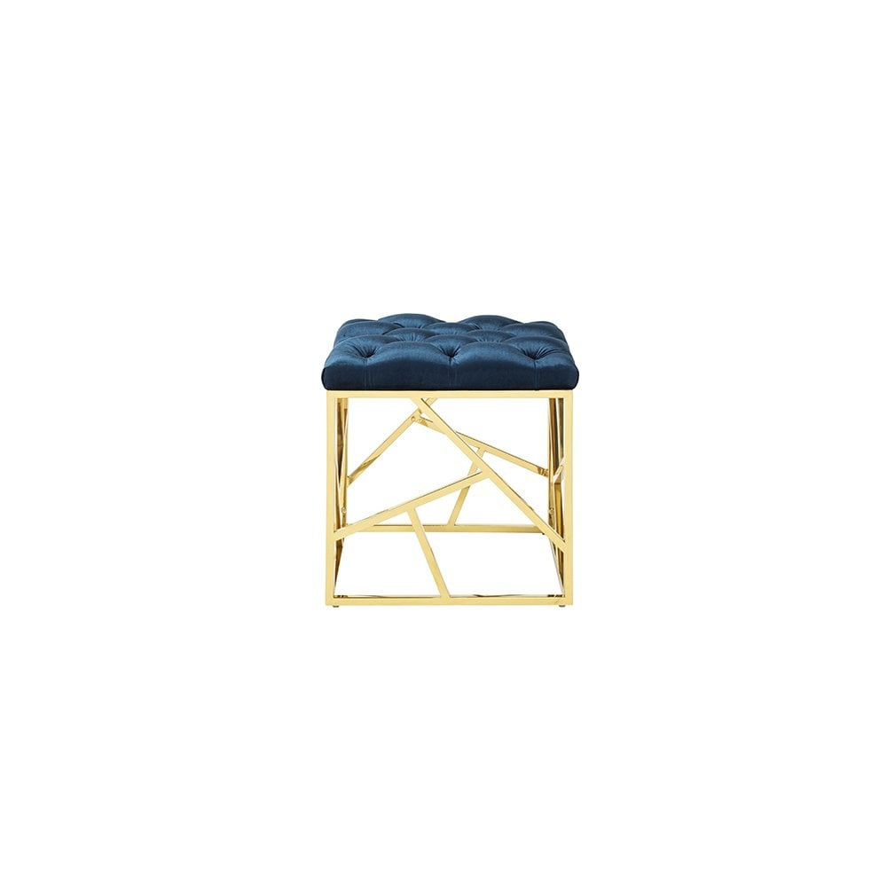 Harper Upholstered Bench With Gold Legs