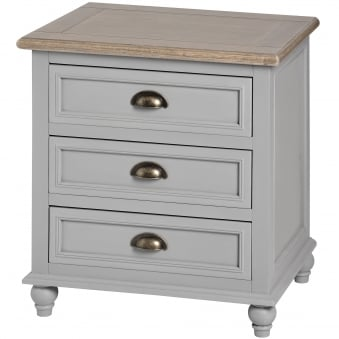 Churchill Collection Three Drawer Bedside