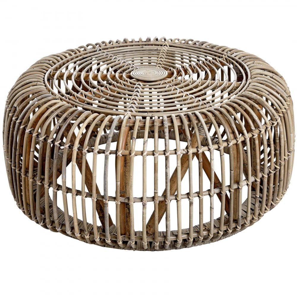 The Bali Collection Full Rattan Round Coffee Table