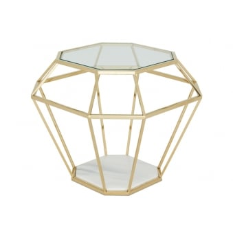 Iris Lamp Table - Gold Plated Stainless Steel