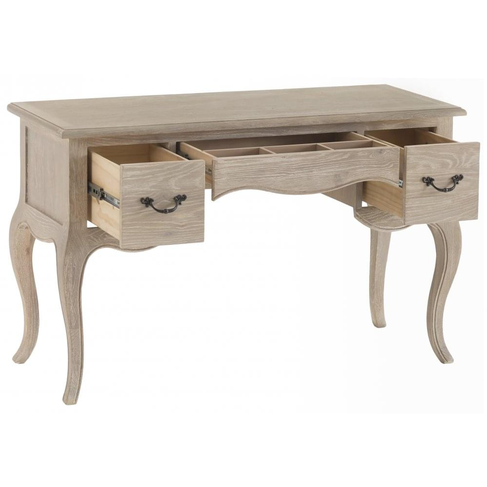 La Rochelle French Style Weathered Lime Washed Oak Dressing Table Bedroom From Breeze Furniture Uk