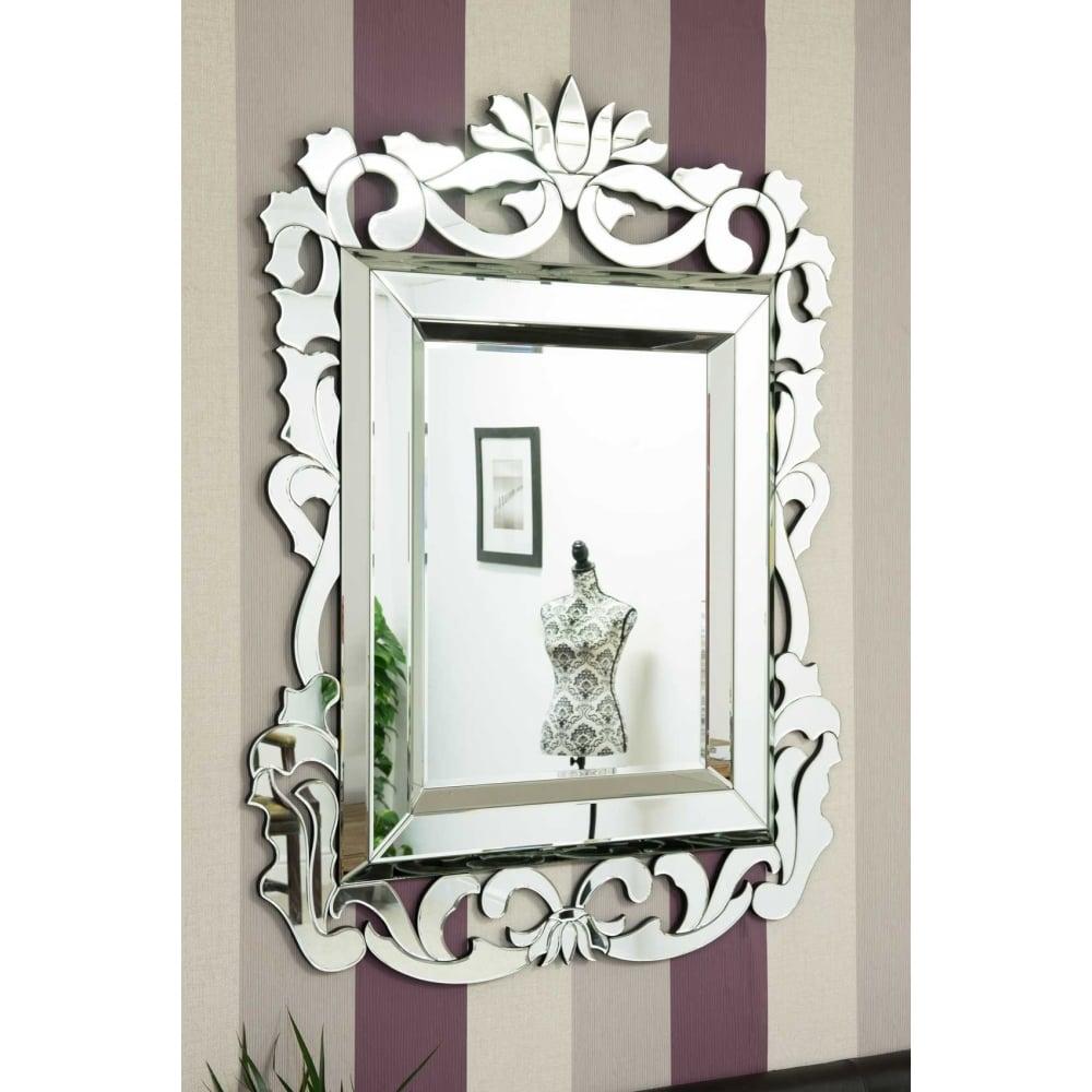 Langdale Stylised Baroque Inspired Venetian Mirror