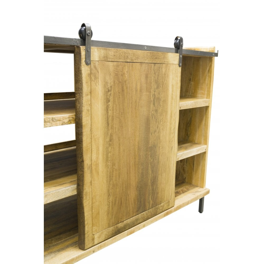 Live Edge Sideboard With Sliding Door Dining Room From Breeze
