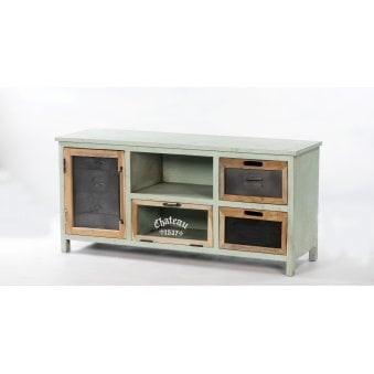 Artisan Painted TV Unit   2 Door 2 Drawer
