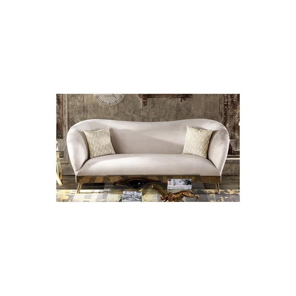 Ordinaire Bardot Armen Fabric 3 Seater Sofa