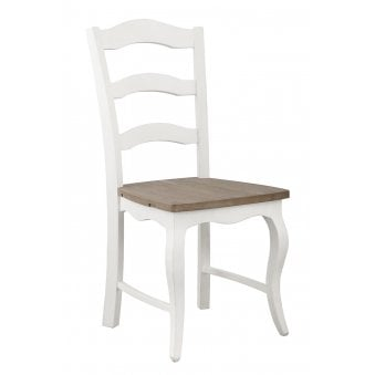 Boulez White Painted Dining Chair Horizontal Slatted (Pair)