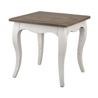 Boulez White Painted Lamp Table