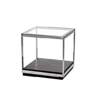 Crawford Glass Top End Table