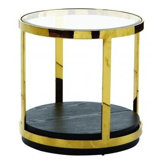 Keaton Glass Top End Table