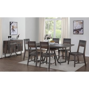 London Dining Set with 6 Dining Chairs
