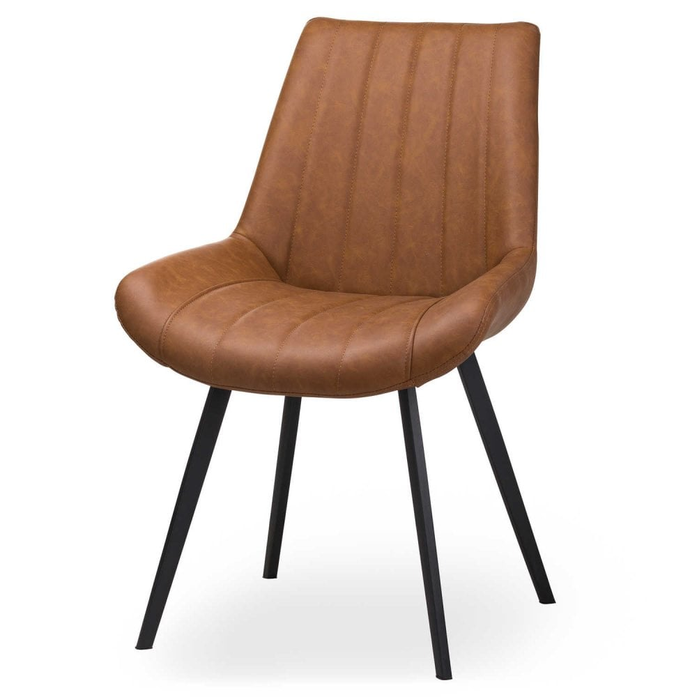 Malmo Tan Dining Chair Faux Leather