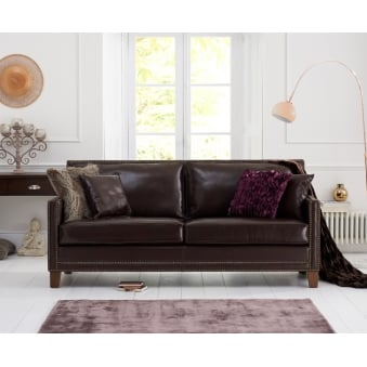 Arundel Brown Leather 3 Seater Sofa
