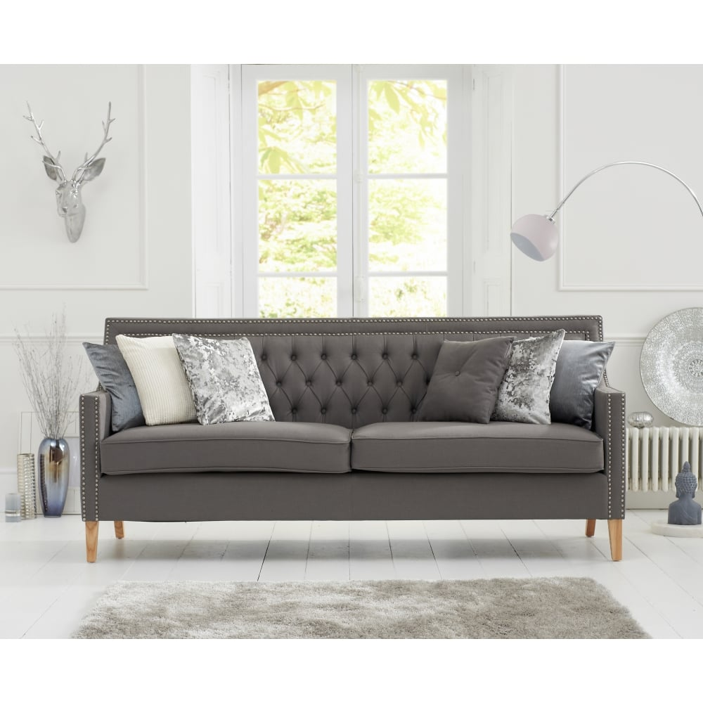 Forskjellige Casa Bella Grey Fabric 3 Seater Sofa - Living Room from Breeze HF-36
