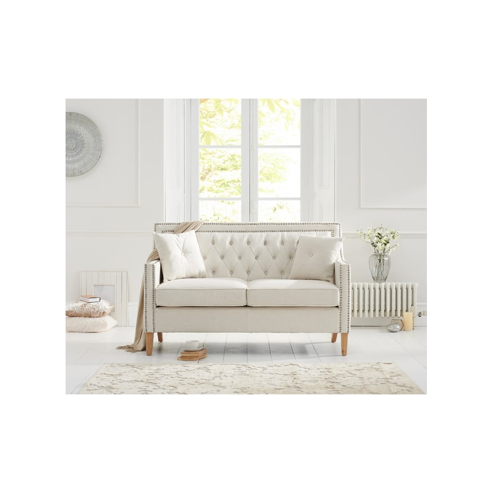 Topnotch Casa Bella Ivory Fabric 2 Seater Sofa - Living Room from Breeze ZG-77