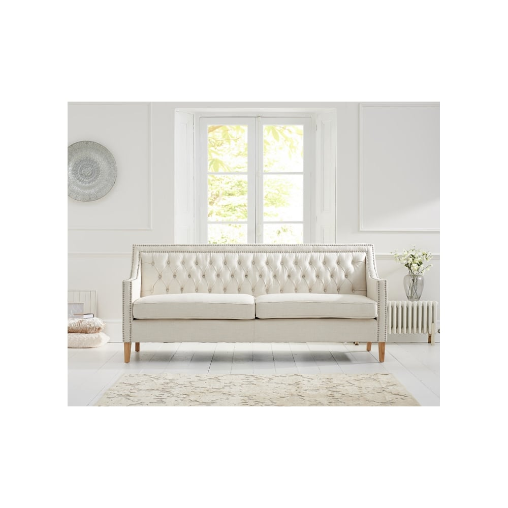 Ultra Casa Bella Ivory Fabric 3 Seater Sofa - Living Room from Breeze JO-62