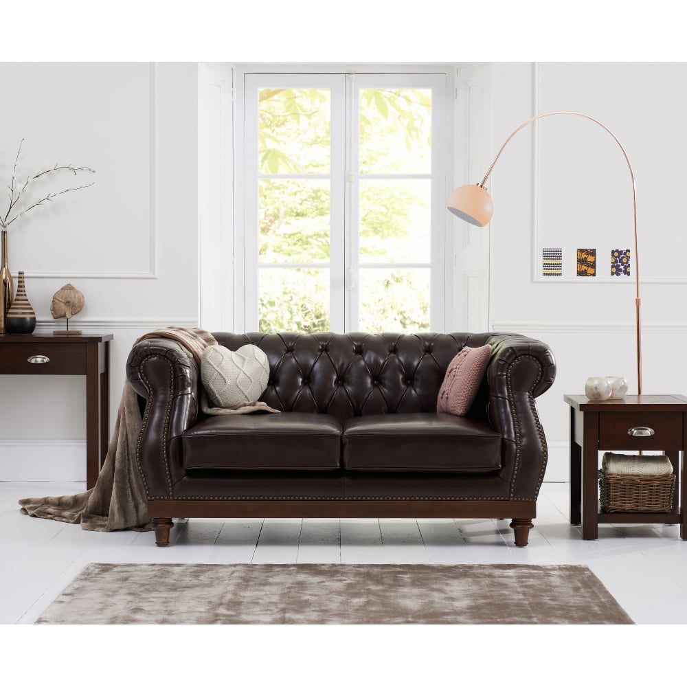 Groovy Highgrove Brown Leather 2 Seater Sofa Download Free Architecture Designs Scobabritishbridgeorg