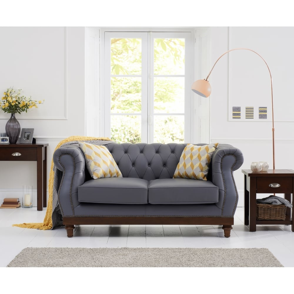 Highgrove Grey Leather 10 Seater Sofa