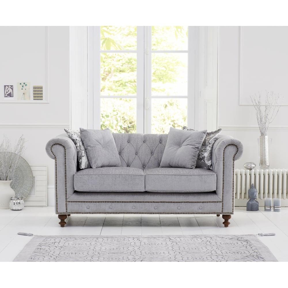 Montrose Grey Fabric 2 Seater Sofa