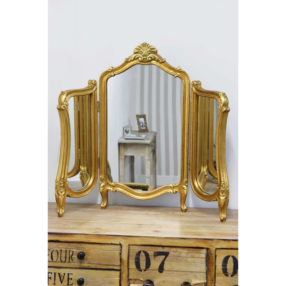 Marquis Gold Elegant Antique Design Dressing Table Mirror