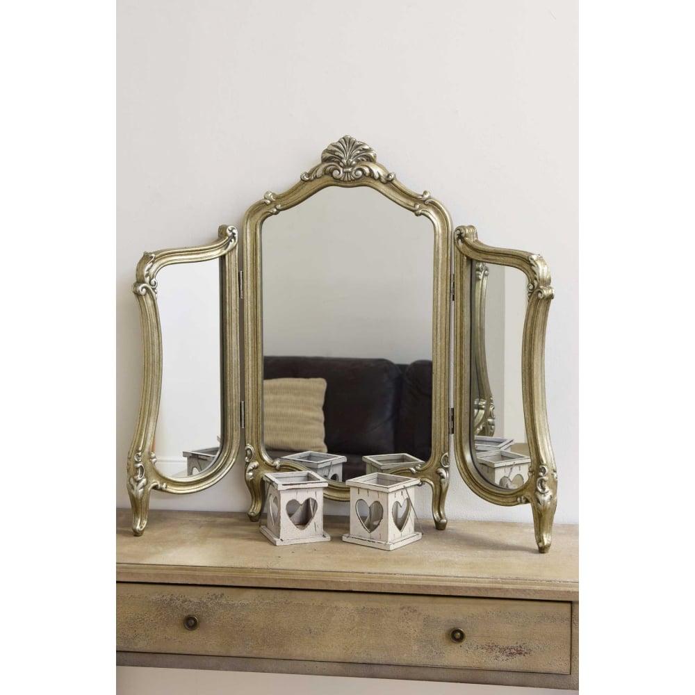 Marquis Silver Elegant Antique Design Dressing Table Mirror