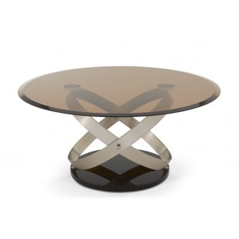 Miranda Coffee Table With Tempered Smoked Glass Top